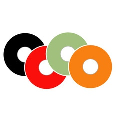 Colorful vinyl vector image
