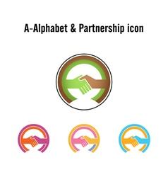 Creative A-letter icon abstract logo design vector image