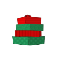 Presents Pile with Color Number3 vector image