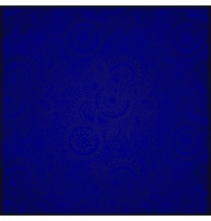 blue vintage floral seamless paisley pattern vector image vector image