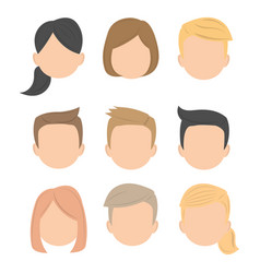 business avatar character working people icon vector image