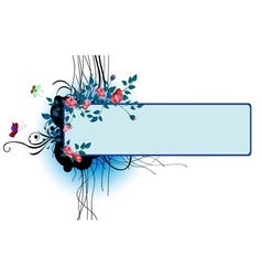 floral banner invite vector image