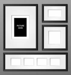 frames black vector image
