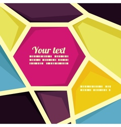 geometric banner template vector image