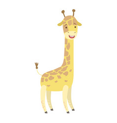 giraffe cute toy animal with detailed elements vector image vector image