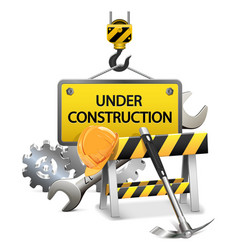 Under Construction Concept with Frame vector image vector image