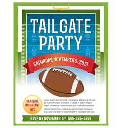 American Football Tailgate Party Flyer vector image vector image