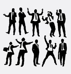 Businessman success people silhouettes vector