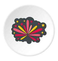 fireworks icon circle vector image