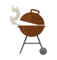 grill barbecue for bbq party picnic flat vector image