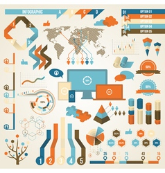 Infographic Elements and Communication Concept vector image