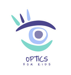 Optics for kids logo symbol hand drawn vector