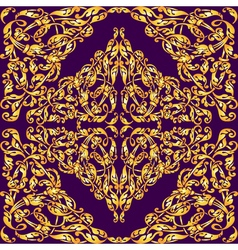 seamless pattern with vintage gold luxury ornament vector image