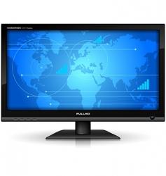 Widescreen tft display vector