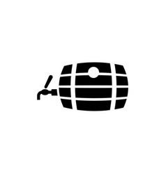 barrel beer flat icon vector image