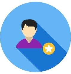 Favorite Male Profile vector image