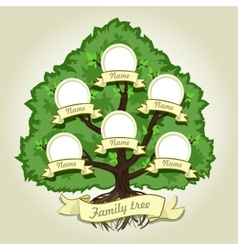 Genealogical family tree on gray background vector