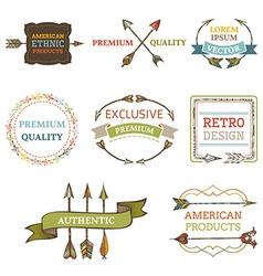 logo templates with arrows vector image