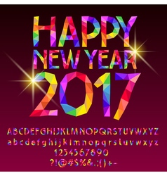 Patch sparkling Happy New Year 2017 greeting card vector image