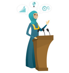politician giving a speech from tribune vector image vector image