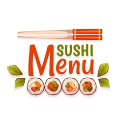 Sushi menu for restaurant vector image