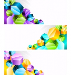 3D banners vector image vector image