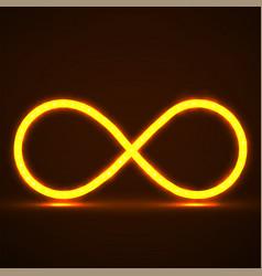Abstract neon infinity symbol vector