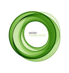 Abstract transparent green swirl circle vector