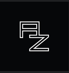 Az logo monogram with line style design template vector