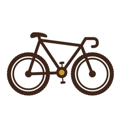 bicycle brown contour to the right vector image