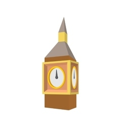 Big Ben in Westminster London icon cartoon style vector image