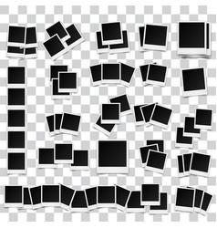 big set of square photo frames on sticky tape vector image