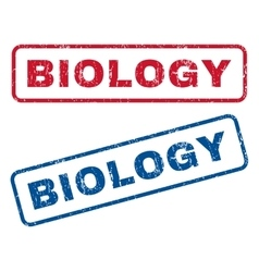 Biology Rubber Stamps vector image