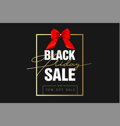black friday sale gold banner luxury black vector image