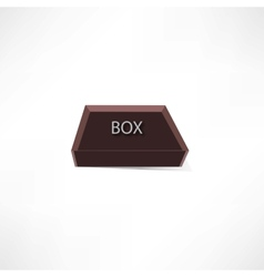 Brown box vector