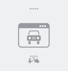 car web service icon vector image