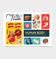 cartoon healthcare infographic concept vector image