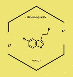 Chemical formula icon serotonin vector