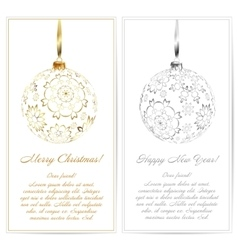 Christmas postcard ornament decoration background vector image