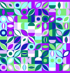 Colorful abstract random curved shape pattern vector