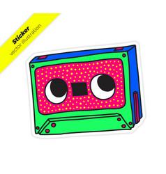 compact audio cassette musicassette music tape vector image