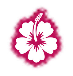Decorative hibiscus flower icon vector