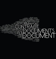 Documents word cloud concept vector