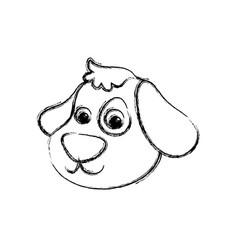 dog cartoon drawing head vector image