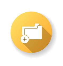 empty folder yellow flat design long shadow glyph vector image