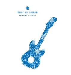 Falling snowflakes guitar music silhouette pattern vector