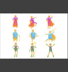 funny elderly men in superman costume old vector image