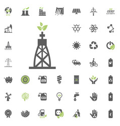 gas-fired power plant icon eco and alternative vector image