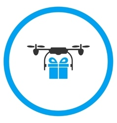 Gift Air Drone Shipment Icon vector