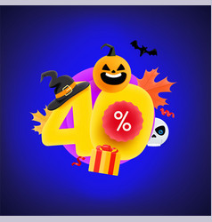 Halloween sale sale up to 40 percent banner vector